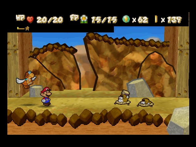 Paper Mario - Battle  - Ok,put that rock down and no one gets hurt - User Screenshot